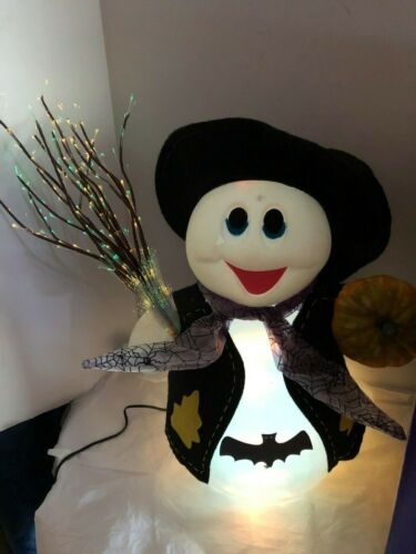 Large FIBER OPTIC  GHOST GREETER LIGHT UP HALLOWEEN 15