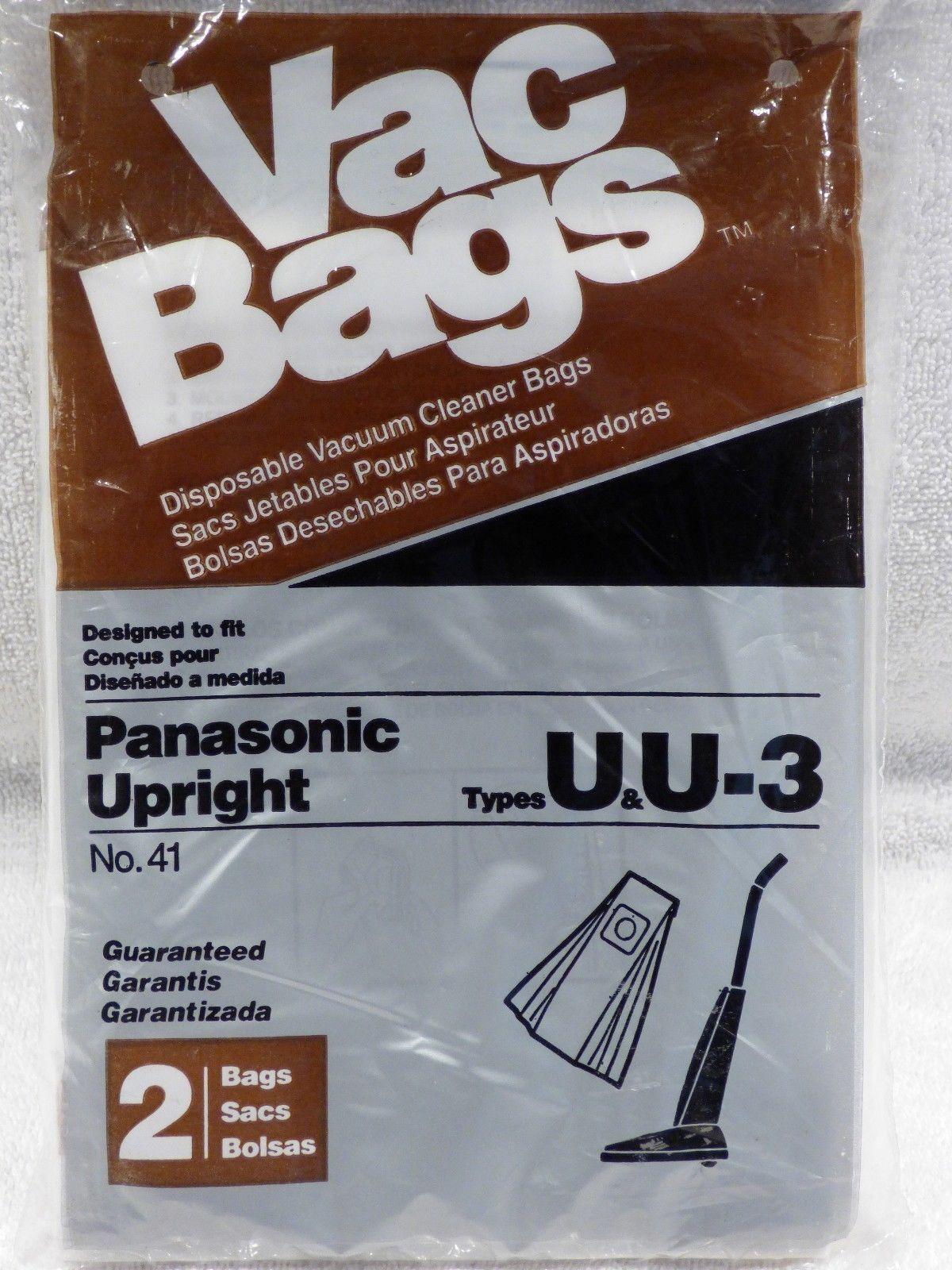 HomeCare Panasonic Upright No. 41 Vacuum Bags 2-Pack Fits Ty