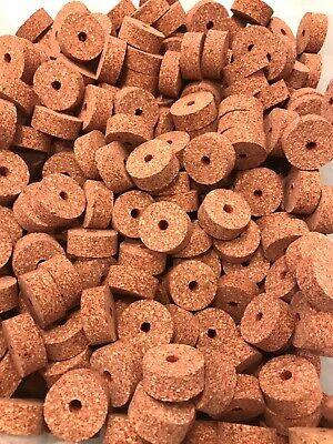"1 1//4/"" x 1//2/"" x 1//4/"" Hole. Cork Rings 4 Full Grain Green Burl"