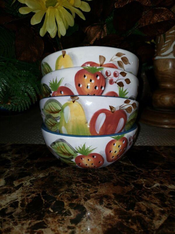 Vintage Black Forest Fruits Dinnerware China Heritage Mint,LTD Bowls(qty: 4)