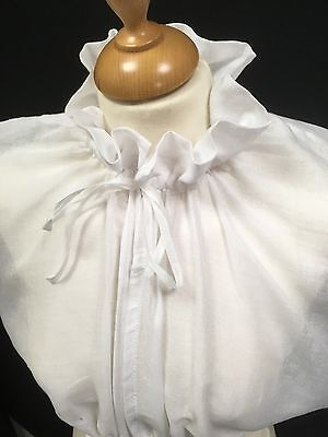 Regency, Jane Austen Inspired, Chemisette in Muslin With Ruffle Collar.