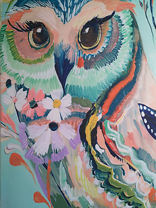 Huge owl print on canvas. 145 x 120cm Bentley Canning Area Preview