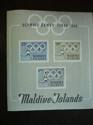 Stamps - Maldive Islands - Scott# 146a - Souvenir Sheet - Imperf