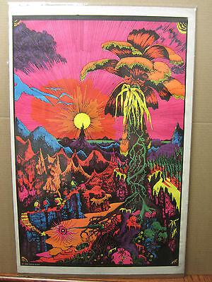 Vintage Lost horizons  NOS Black light Poster original 1400 ()