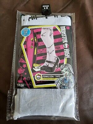 Monster High Frankie Stein Child Halloween Costume (Child Monster High Frankie Stein Tights Halloween Accessories Costume 75lbs)