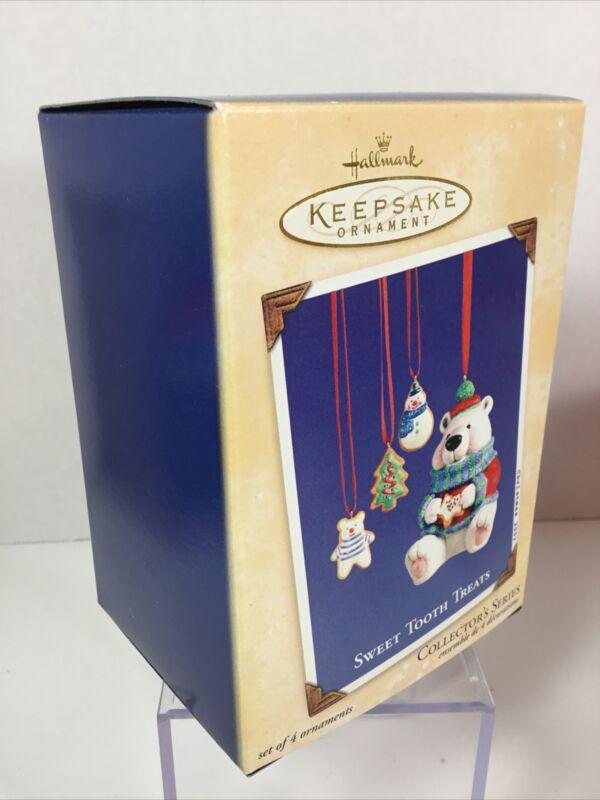 Hallmark Keepsake Christmas Ornament 2002 Sweet Tooth Treats Set Of 4