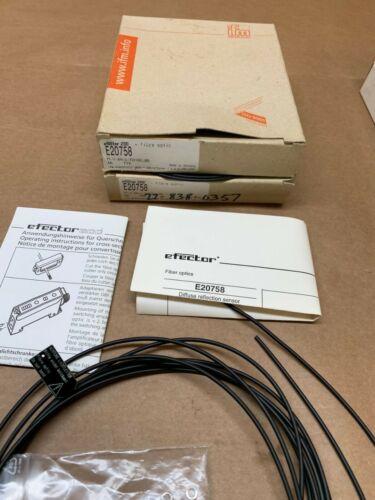 LOT Of 2 IFM Fiber Optic Cables E20757 NEW, NEW