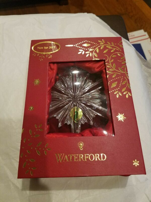2017 Waterford ANNUAL SNOWSTAR Crystal Snowflake Ornament - NIB