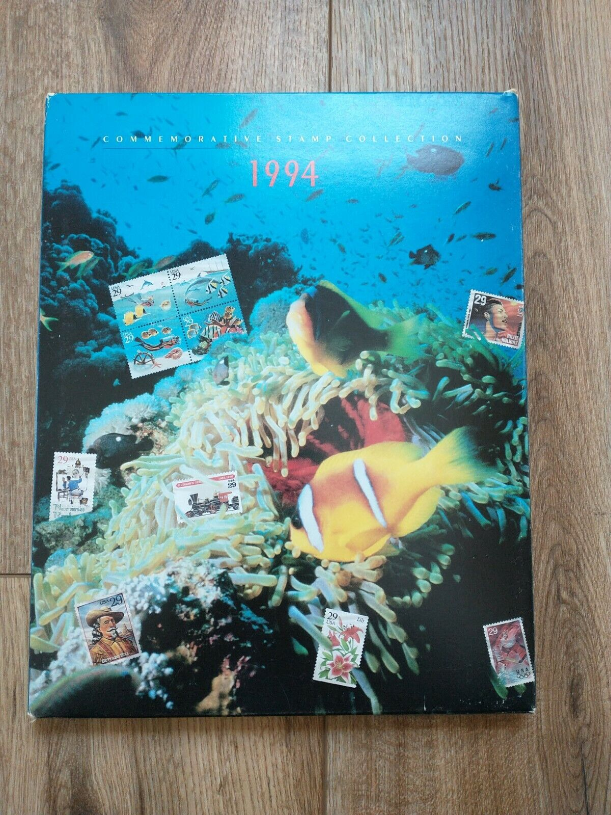 1994 US Commemorative Stamp Collection, Album, Sealed Mint Stamps Mounts - $35.00
