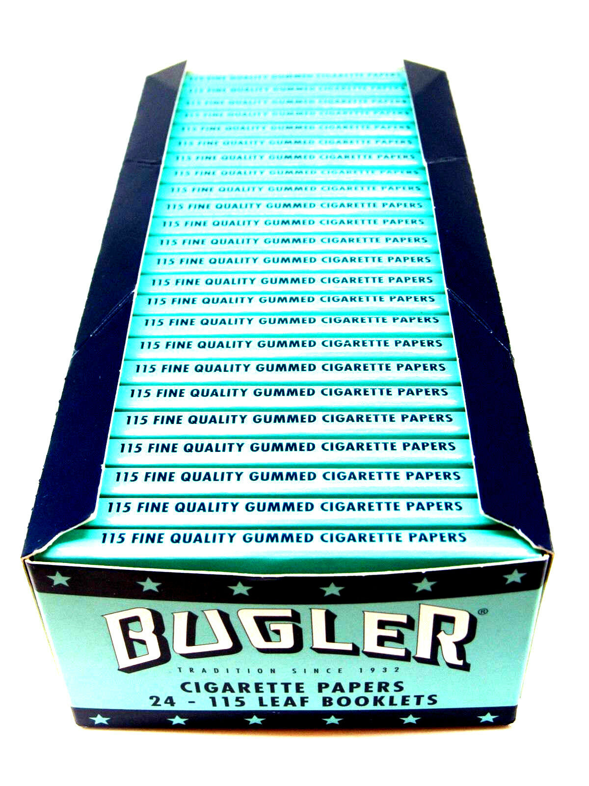 Bugler Rolling Papers 24 Packs Booklets Box- 115 Leaves Per Pack New RYO