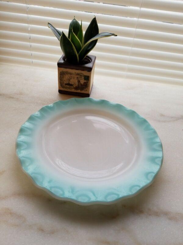 Lovely Vintage Plate ~ White Milk Glass ~ Rippled Edges
