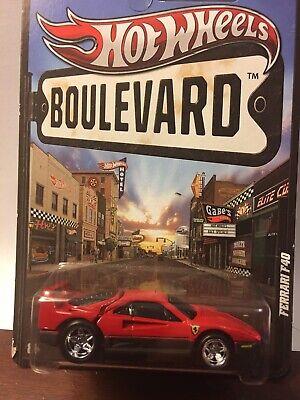 Hot Wheels Boulevard Series Ferrari F 40 Real Riders (Ahead of its Time)
