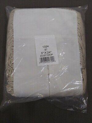 Industrial Dust Mop Head 5x 24 New In Package 1324 White