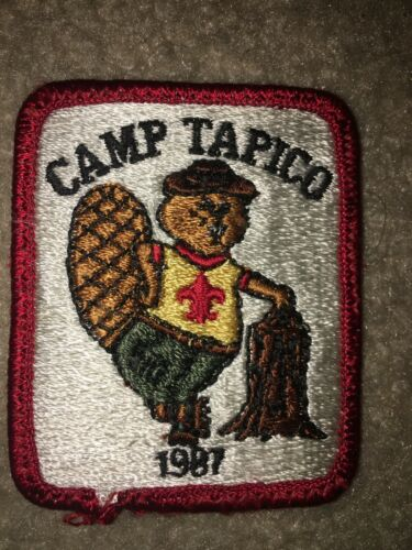Boy Scout BSA Camp Tapico 1987 Beaver Red Borde Tall Pine Michigan Council Patch