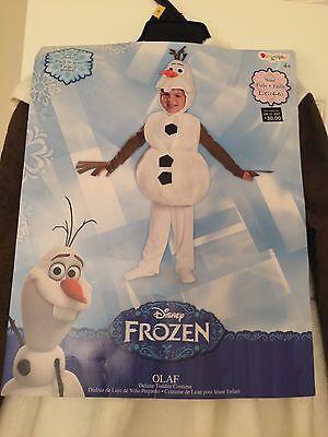 Disguise Baby's Disney Frozen Olaf Deluxe Costume,White,M (3T-4T) Halloween - Olaf Halloween Costume Infant
