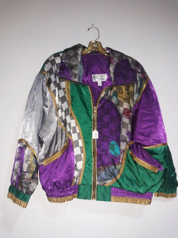 Vtg 90s Giacca Sport Wind Jacket Small