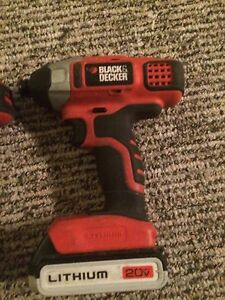 Black and Decker Drill set.