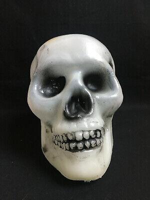 Halloween Skull Skeleton Glow in the Dark GITD Head Plastic Blow Mold Decoration