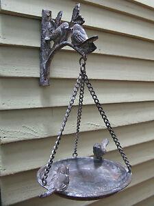 Fonte vintage petite baignoire oiseaux mangeoire support for Baignoire oiseaux jardin