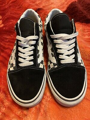 Men's VANS Old Skool Checkerboard Suede/Canvas Skate Shoes - Size 9