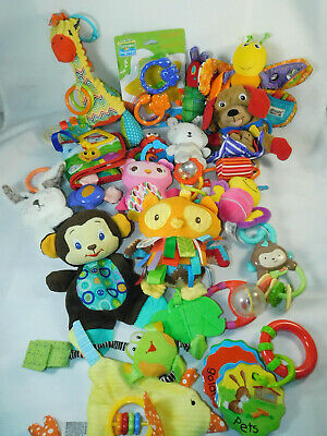 Lot of 20 Baby Toys Developmental Teething Rattles Hanging Plush