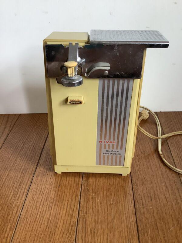 Vintage Rival Can Opener Model 735 Harvest Gold