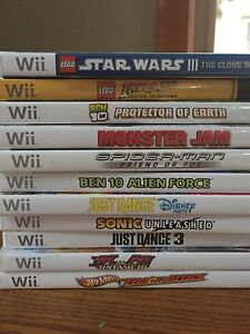 Assortment of Wii games
