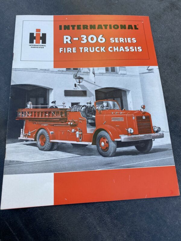 International R-306 Series Fire Truck Chassis Sales Brochure IH Harvester