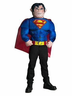 Mens Superman Inflatable Halloween Costume Top - SIZE OSFM NEW