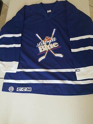 NWT Labatt Blue Mens sz XL Sewn CCM Canada Hockey Jersey Read all