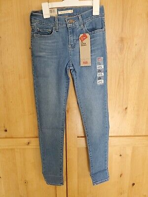 Brand New Levis 710 Super Skinny Jeans Womens Mid Rise Size 0 Short W25 L28