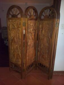 solid wood folding screen Maddington Gosnells Area Preview