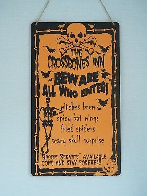 Plaque Garden Hanging Holiday Decoration Zone Sign Wood (Holiday Zone Halloween)