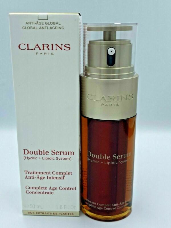 Clarins Double Serum Complete Age Control Concentrate 1.6 oz /shipping same day