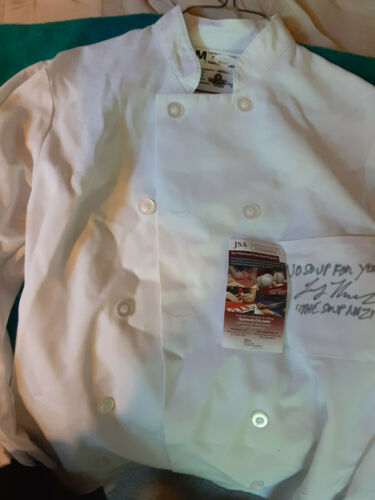 Seinfeld Soup Nazi  autographed Jacket & Photo  JSA Certified No Soup for you