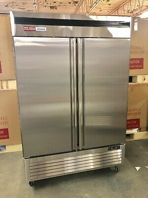 2 Door Refrigerator Commercial Cooler Stainless Double Reach In New Up Right