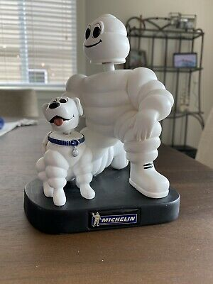 """Michelin Tires Man and Dog Bobblehead and Bobble Tail 7"""""""