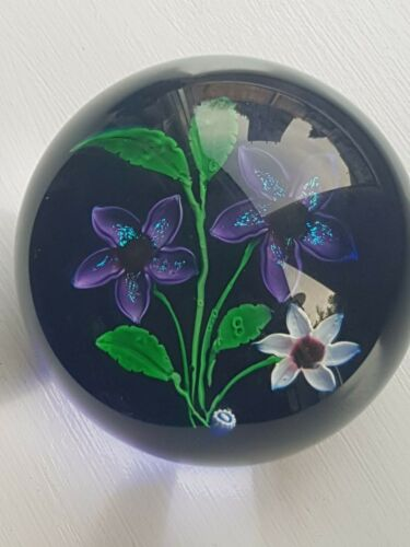 Caithness Whitefriars Floral Spendour Paperweight Ldt Edition 16/50 In V.G.C