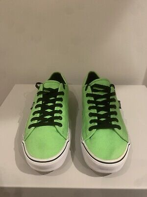 Mens Bright Green Vans Lace Up Skater Trainers Size 10
