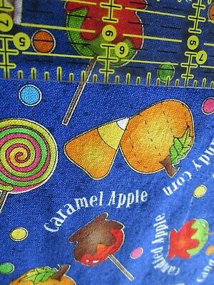 Halloween Candy Toss cotton fabric Trick or Treat Candy Apple BTHY half yard