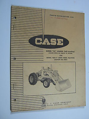 Case 42 Loader For 530 Sl Tractors Parts Catalog Manual