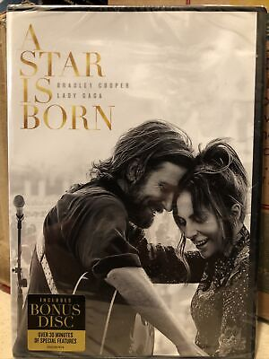 A Star Is Born (DVD,2019, 2-Disc) New,WS,Lady Gaga,Bradley Cooper,Same Day Ship