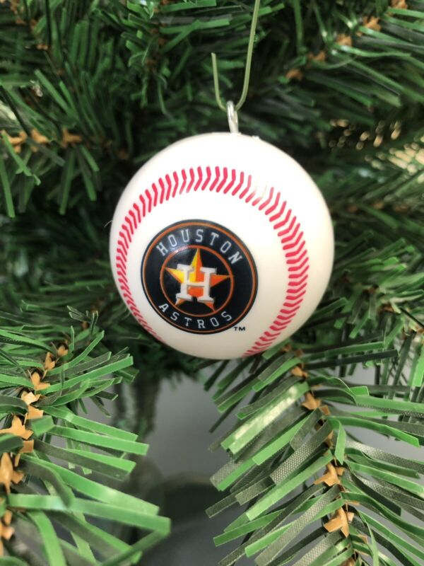 HOUSTON ASTROS MLB Baseball Christmas Ornament!!