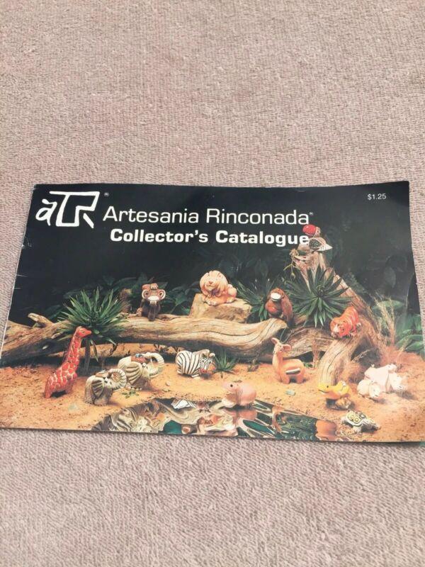Artesania Rinconada Catalog Collection Collectors Guide Vintage Animals 1982
