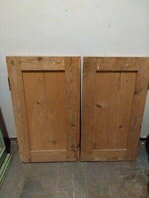 Pair of Old Pine small cupboard doors