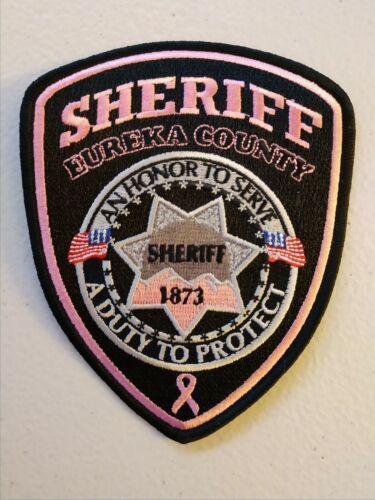 Eureka County, Nevada sheriff pink patch - 2019