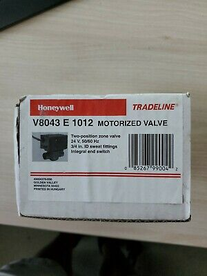 Honeywell V8043e1012 34 Sweat Zone Valve 18 Leads 24 Volt 5060hz