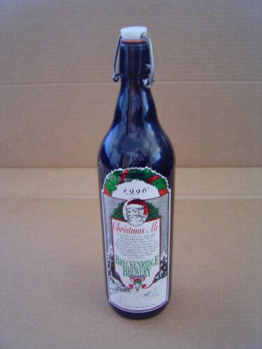 Vintage 1996 Christmas Ale Breckenridge Brewery Denver 1 Litre Bottle #2338