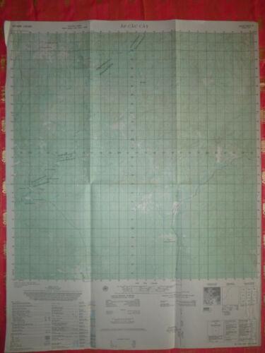 6431 iv - RARE 1966 MAP - CIA AIRFIELD / BASE, RANG RANG - DONG BO - Vietnam War