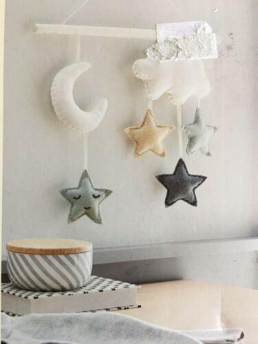 Cloud Island Baby Nursery Wall Art Moon, Clouds & Stars